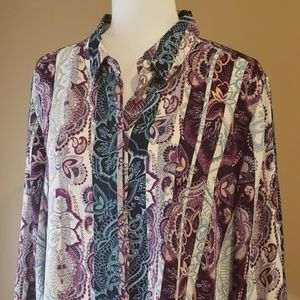 Chico's Tops - Chico's Purple Paisley Blouse NWT